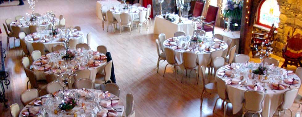 Interior &#8211; wide shot of tables from above