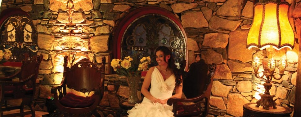 Interior – Bride seated, solo